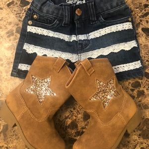 Jean Shorts 18/24M and Boots 6 Toddler